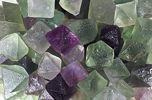 2LB Natural Beautiful Colourful Fluorite Octahedral Crystal Specimen