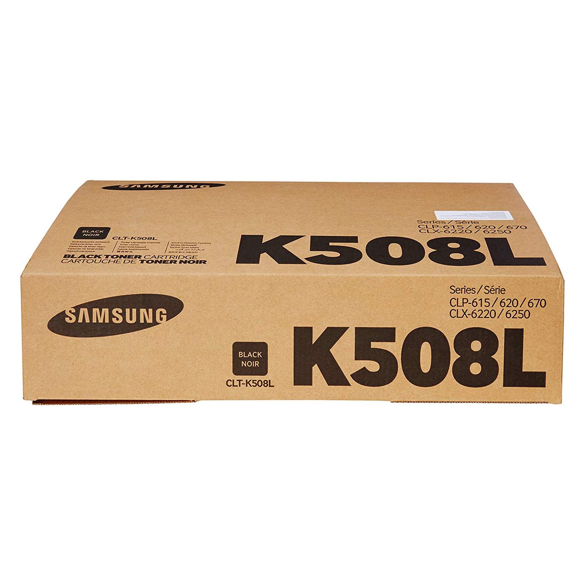 Toner Original SAMSUNG CLT-K508L Black Alta Capacidad para CLP-615 620 670 CLX-6220 6250