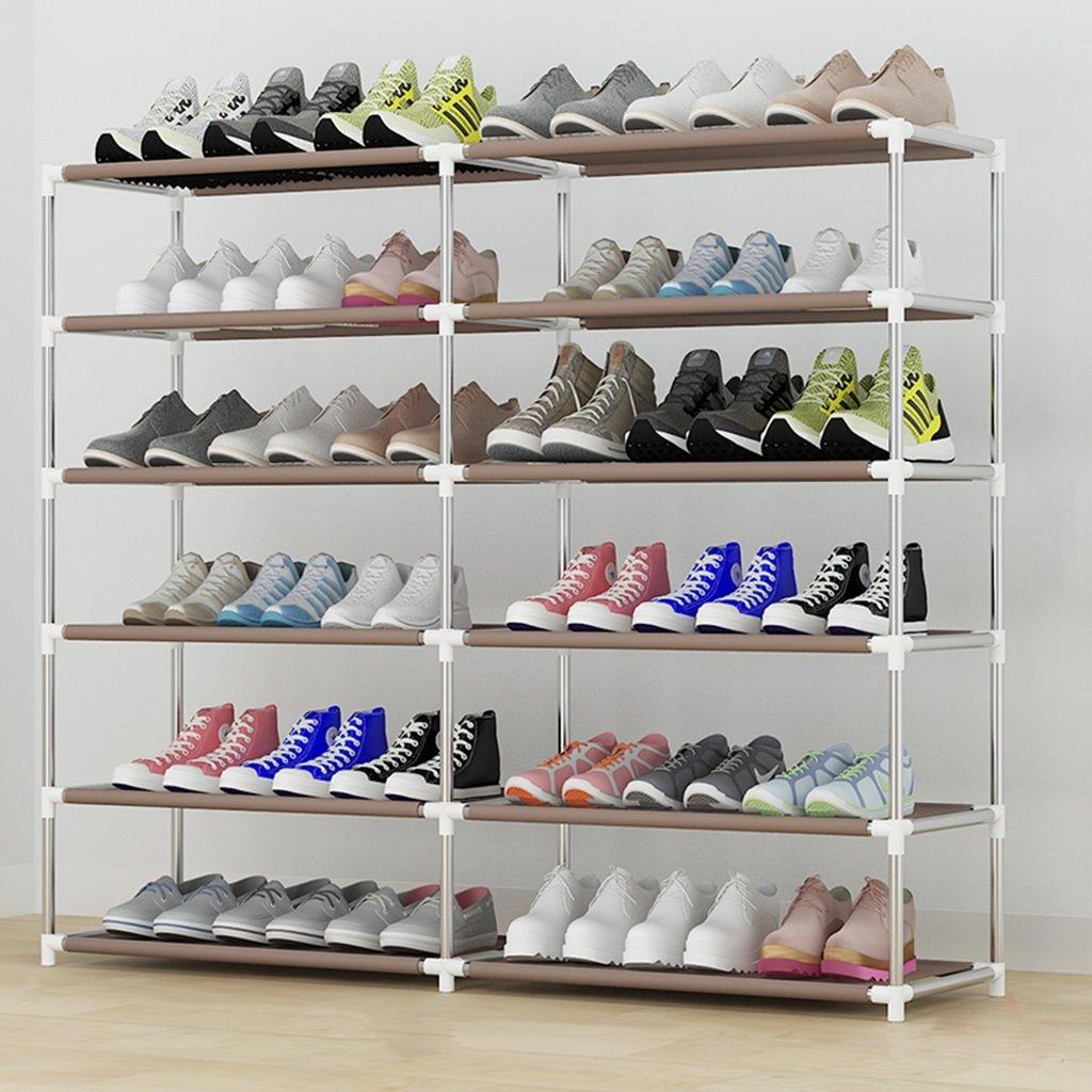 Hoher Schuh-Organisator-Raumersparnis-Speicher-Stand-Bett-Raum-Balkon 6 Tier Für 36 Paar Schuhe 30 * 90 * 120cm ( größe : 30*60*126cm ) qiangzi