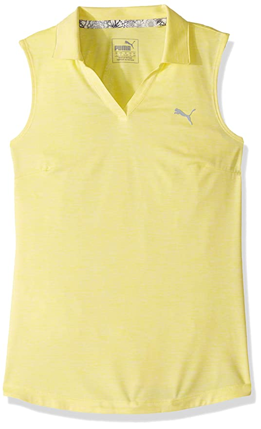 PUMA 2019 Heather Polo, Amarillo Brillante, Large niña: Amazon.es ...
