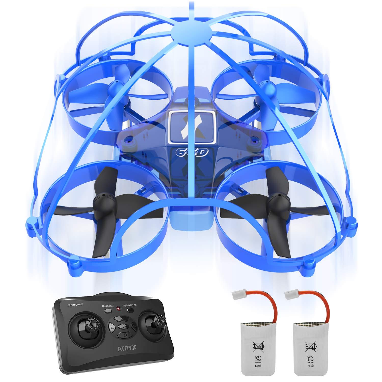 ATOYX Mini Drone para Niños y Principiantes, AT-66D RC Drone Protección de 360 °, Mejor Regalo/Dron de Juguete para Niños