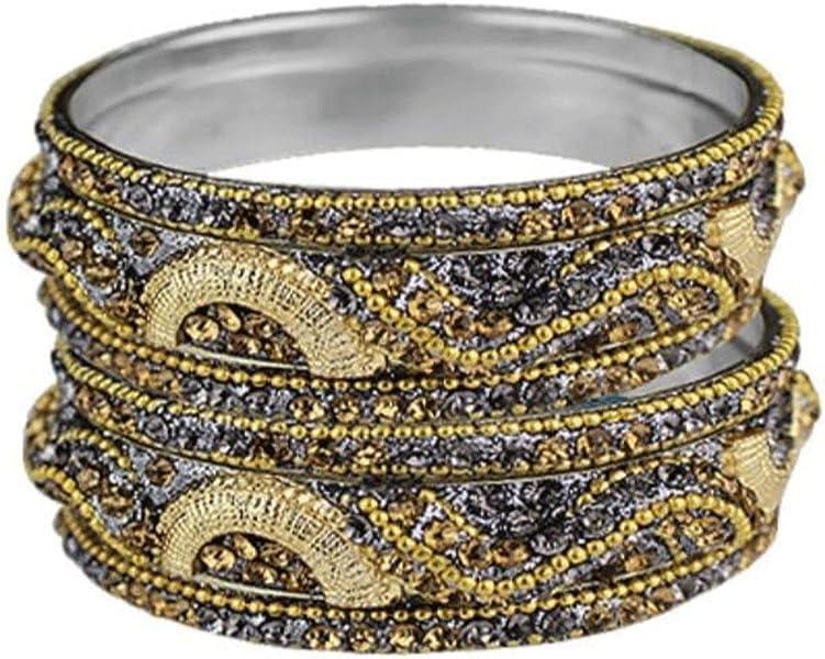 20d877937d5 Sparkly Crystal Rhinestone Bling Bangle Bracelet Set of ... - Amazon.com
