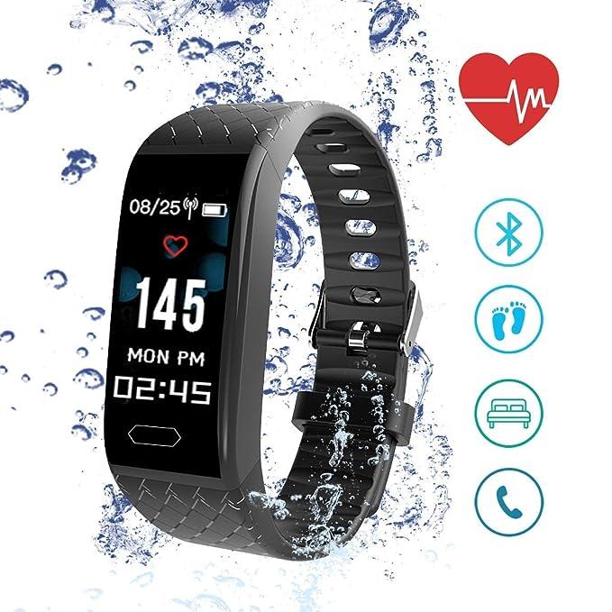 Reloj Inteligente, ISENPENK Smart Watch Pulsera Pantalla táctil Hombres Mujeres Niños,Pulsómetro, Monitor de Ritmo Cardíaco, Contadores de ...