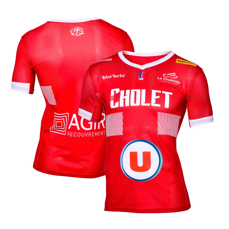 Cholet Basket Maillot Officiel Ext/érieur 2018-2019 Basketball Mixte
