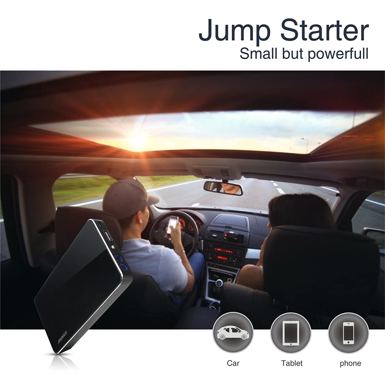 ... de emergencia para arranque de coche (300A, 12V/16V/19V, linterna LED, cargador de batería para smartphone, tablet y portátil): Amazon.es: Electrónica