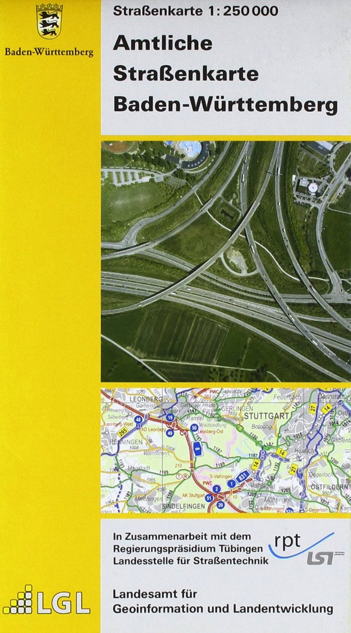 Amtliche Straßenkarte Baden-Württemberg: Straßenkarte 1: 250 000