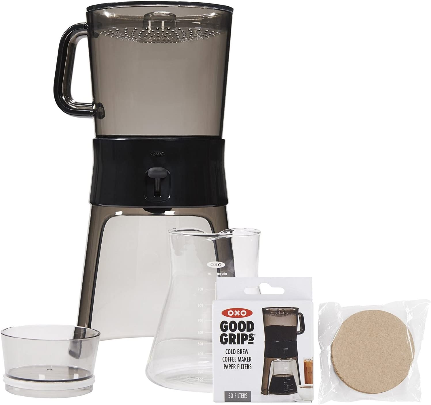 OXO Good Grips Cold Brew Coffee Maker (32 ounces) with 50 Paper Filters
