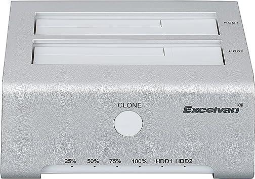 Excelvan HDD Enclosure Base USB3.0 Duplex Offline Copy Caja externa 2.5 / 3.5