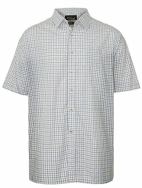 b44b8e44df171 Para hombre Tattersall camiseta de manga corta polialgodón diseño de cuadros   Amazon.es  Ropa y accesorios