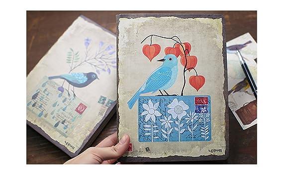 Cartera de piel sintética 6 carpeta de cartón - Cuaderno (A5 espiral diario para escribir en, 96 hojas, 8 mm, A6, de rayas, rellenable, color beige papel, ...
