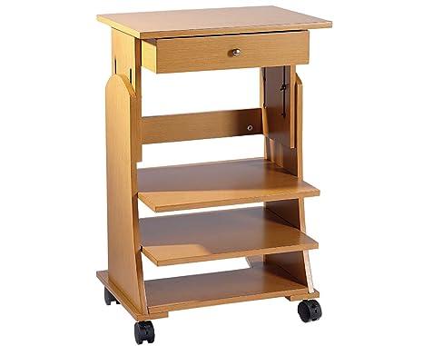 Ruote Per Tavolo Da Lavoro : Compatto in legno di stazione di lavoro regolabile in altezza per