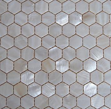 Perlmutt Mosaik Fliesen Fluss Bett Natur Pearl Shell Mosaik Sechseck