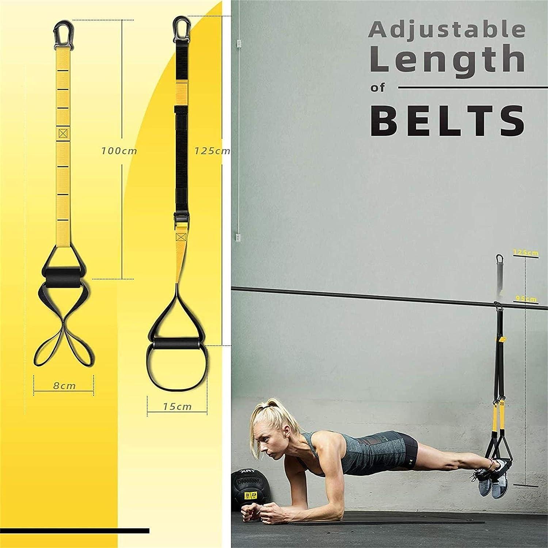 INTEY Entrenamiento en Suspensión, Bandas Elásticas Fitness, Mejora la Flexibilidad y el Equilibrio, Adecuado para Entrenamiento Muscular, ...