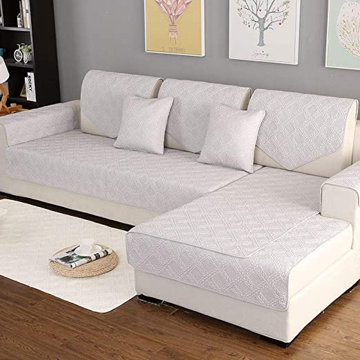 ABUKJM Fundas Sofas 3 Plazas,Cojín de sofá de algodón Cuatro Estaciones cojín Antideslizante de Tela Universal Simple @ Cloud Fiber_70 * 210cm: Amazon.es: Hogar
