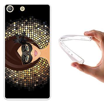 WoowCase Funda para Sony Xperia M5, [Sony Xperia M5 ] Silicona Gel Flexible Cinta de Musica, Carcasa Case TPU Silicona - Transparente