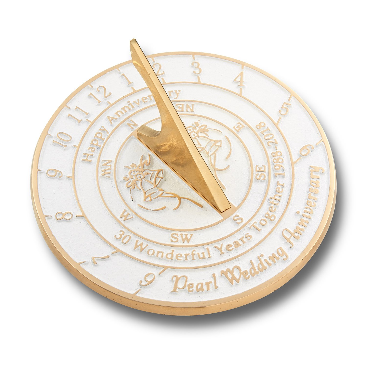 The Metal Foundry 30th Pearl Wedding Anniversary Sundial Gift Idea is A Great Present Him Her A Couple to Celebrate 30 Years Marriage