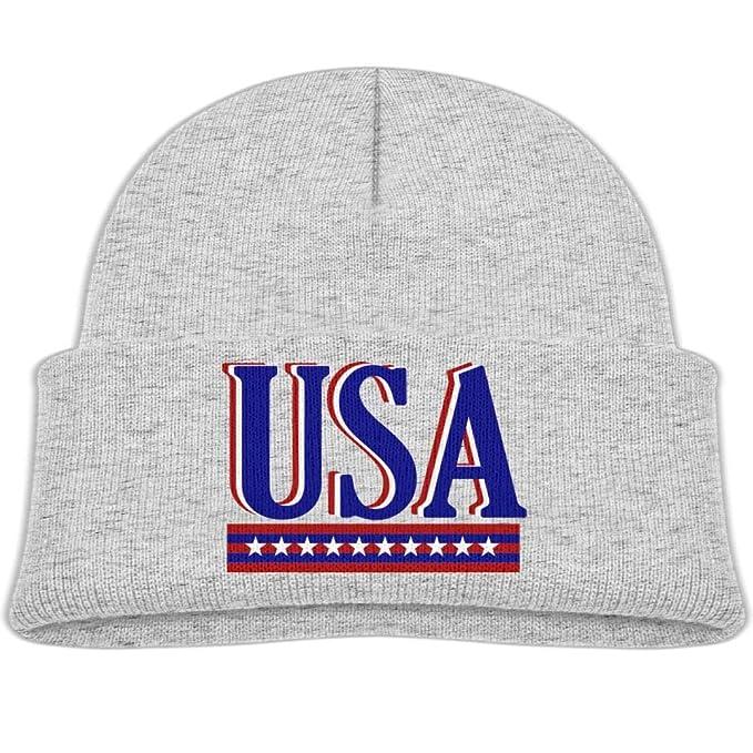 Amazon.com  Fzjy wnx USA Blue Red Wool Beanie Hats Warm Boy 0-3 Old ... d3833dcfcb7