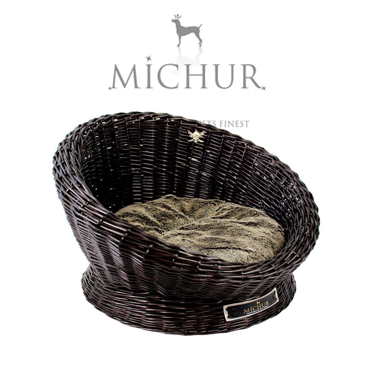 Captain Jack - Lit Sofa Panier Cave pour chien et chat - Couleur : espresso Michur