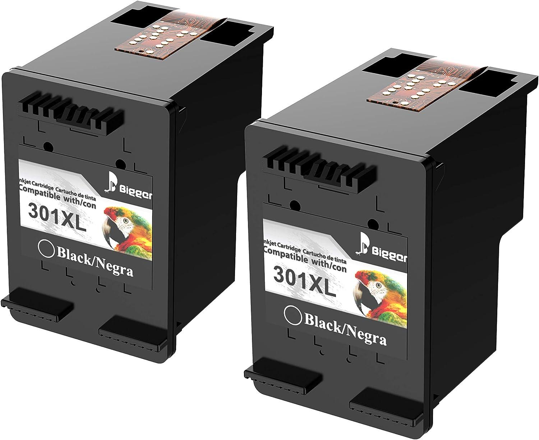 Cartuchos de Tinta 301XL remanufacturados más Bigger para Cartuchos de Tinta HP 301XL Compatible con HP DeskJet 1050 1510 2540 3000 3050, HP Envy 4500 5530, HP OfficeJet 2620 4630 (2 Black Pack): Amazon.es: Electrónica
