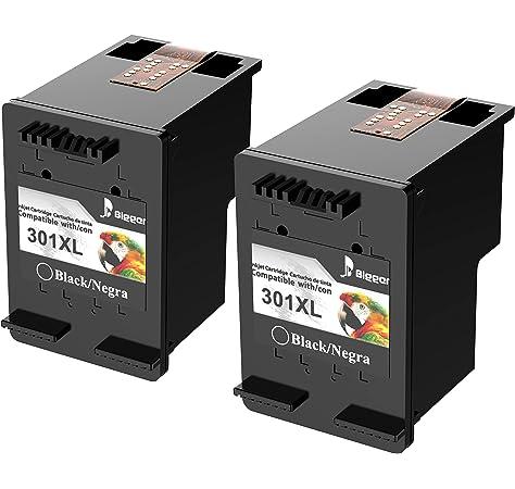 HP 301 - Cartucho de tinta para HP Deskjet, negro & AmazonBasics Papel multiusos para impresora A4 80gsm, 1 paquete, 500 hojas, blanco: Amazon.es: Oficina y papelería