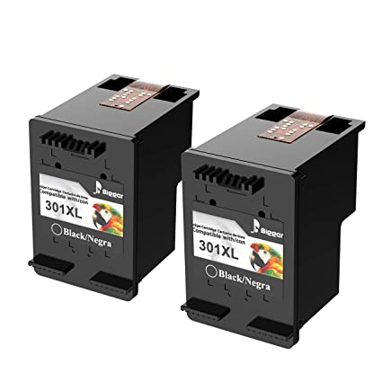 Cartuchos de tinta 301XL remanufacturados más Bigger para cartuchos de tinta HP 301XL Compatible con HP DeskJet 1050 1510 2540 3000 3050, HP ENVY 4500 ...