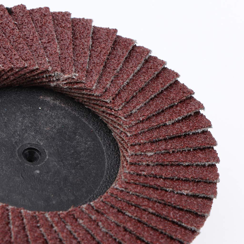 5tlg Polierscheibe Polierrad F/ächerscheibe Polierf/ächerscheibe f/ür Winkelschleifer /Ø75mm 50mm