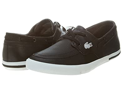 105241f52e529 Lacoste Ramer Boat Cre SPM LTH Mens Style  7-25SPM4021-02H-Size  11. 5  Buy  Online at Low Prices in India - Amazon.in