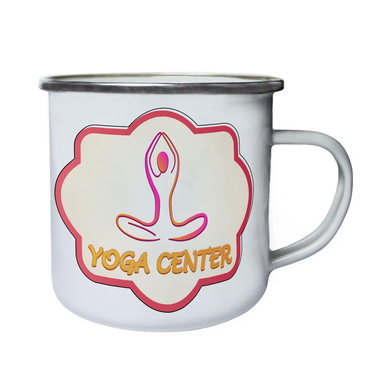 Yoga Center Beauty Spa Retro,Tin, Enamel 10oz Mug o690e