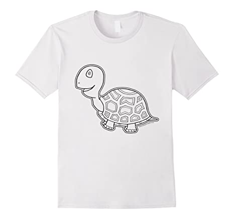 Tortoise T-Shirt to color in