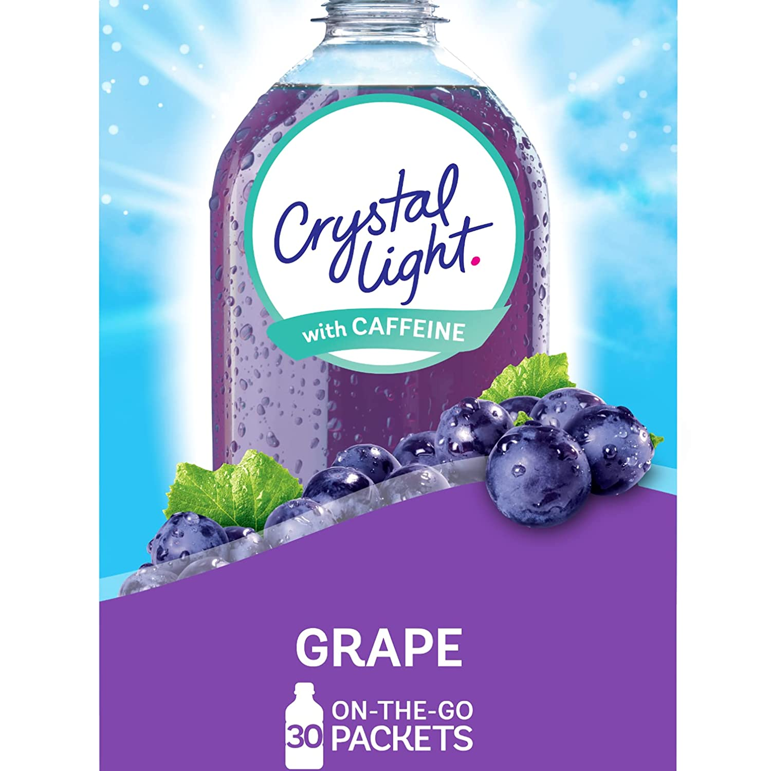 Crystal Light Grape Energy Drink Mix with Caffeine (120 On-the-Go Packets, 4 Packs of 30)