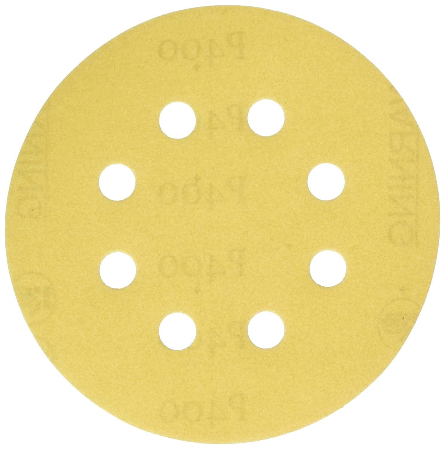 Gold 50 Pack Karebac K3-585-600 Stearated Aluminum Oxide600 Grit Dustless Hook /& Loop Sanding Discs with 5x8 Hole