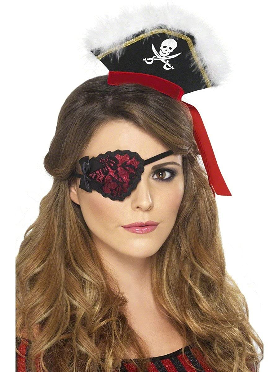 Adult Lady Pirate Eyepatch Red Smiffys
