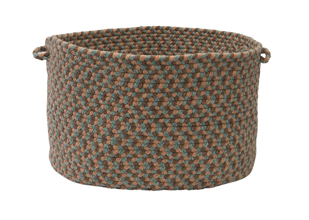 Colonial Mills Boston Common Driftwood Teal Braided 14'''' x10 Utility Basket, NEW by Colonial Mills (Image #1)