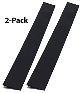 Silicone Counter Gap Cover for Kitchen Counters, Stoves, Appliance Gaps - 2-Pack, 25 Inches Each - Heat Resistant, Easy to Clean - Wide Spill Guard Covers Gaps Between Counters, Stovetop, Oven - Black