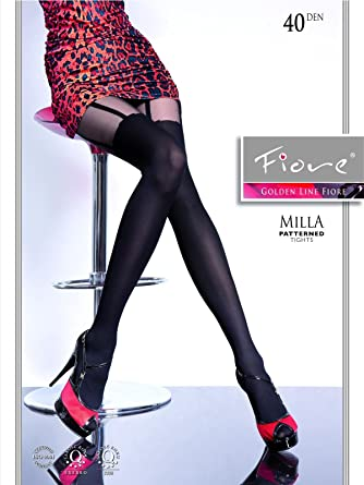 """MOCK SUSPENDER TIGHTS /"""" Lilly 01/""""  by Mona with  Imitating Hold Ups pattern"""