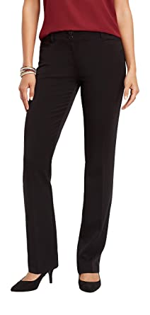 d69823490 maurices Classic Boot Cut Pant - Women's Black at Amazon Women's ...