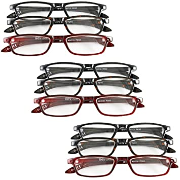 c4f9abd1675d Amazon.com  (Set of 9) Magnifying Reading Glasses +4.0 4.5 5.0 ...