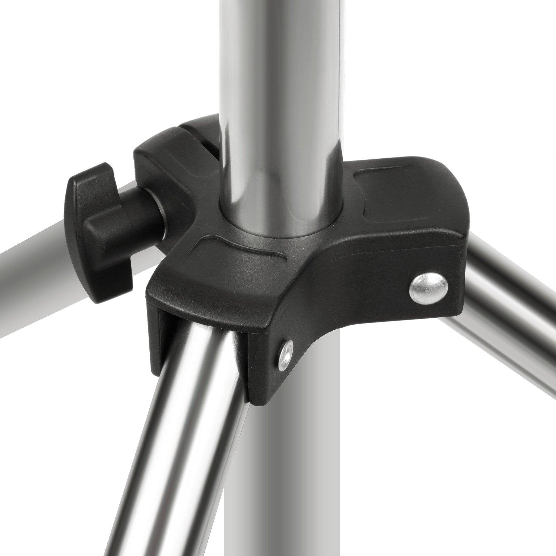 Argento Neewer Cavalletto Light Stand 1//4 pollici 200cm in Acciaio Inossidabile Pieghevole Portatile e Resistente