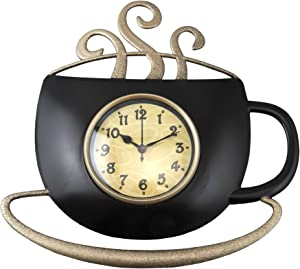 Dependable Antique Style Coffee Cup Wall Clock 12