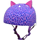 Krash 2015 Girl's Leopard Kitty Youth Bike/Skate Helmet