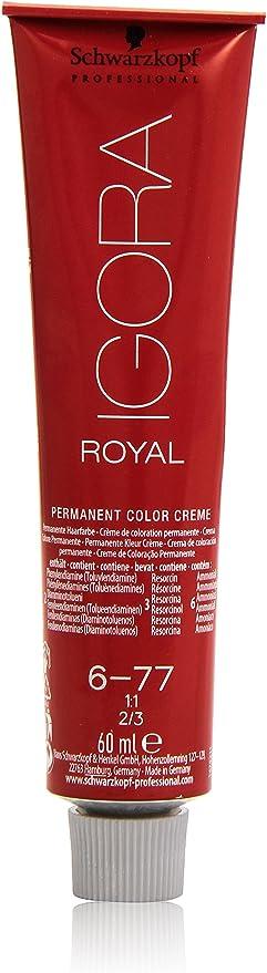 Schwarzkopf Igora Royal 6-77 - Tinte de coloración (rubio oscuro cobre, 1 x 60 g)
