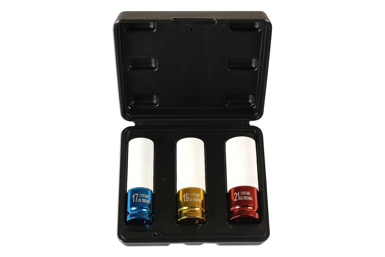 Laser 6294 Alloy Wheel Nut Sockets, Set of 3