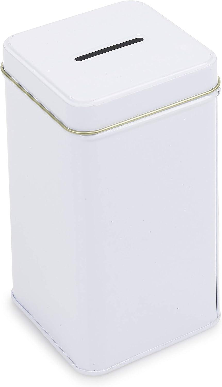 Scatola di latta donazione Carit/à can/ My Charity Boxes/ /Confezione da 4 Square-07 /denaro/ /Confezione di 4/salvadanaio/ /Carit/à can