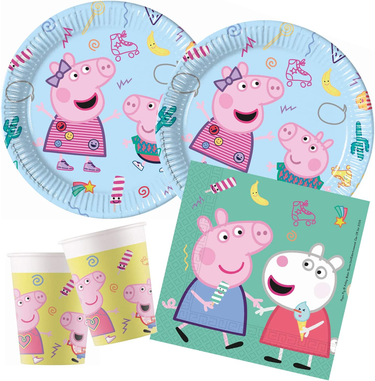 Procos- Peppa Pig Messy Play - Set de Fiesta (tamaño pequeño) (10133996B)
