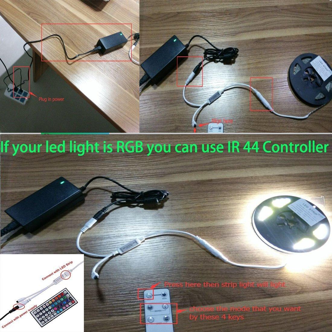 LEDMO Waterproof SMD2835 15lm CRI80 600 LED Strip Light, White (6000K) by LEDMO (Image #9)