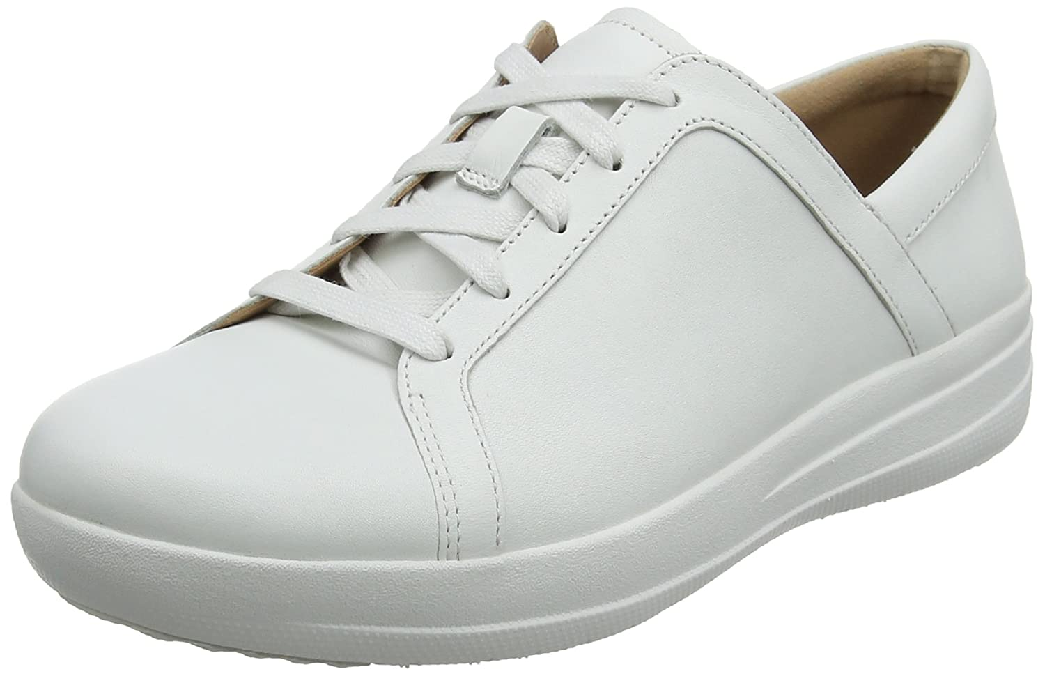 Fitflop F-Sporty II Lace Up Sneakers-Leather, Zapatillas para Mujer