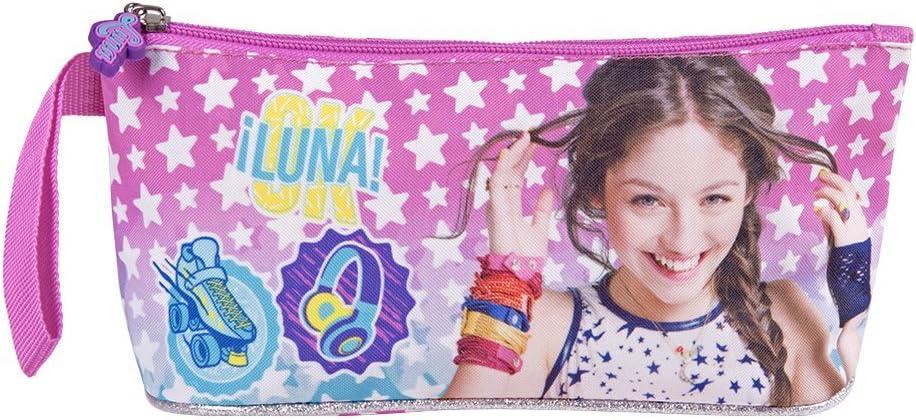 PERLETTI - Disney Soy Luna Estuche Escolar Niña - Portatodo Rosa con Cremallera para Lápices Lona de Papelería Oficina - Estuche Multiuso - 10x21x8 cm: Amazon.es: Oficina y papelería