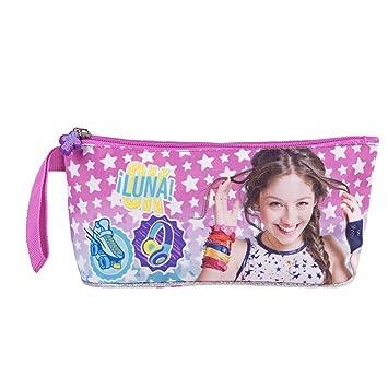 Estuche portatodo escolar para niña - Estuche Disney Soy Luna para plumas y lápices - Perletti 10x21x8