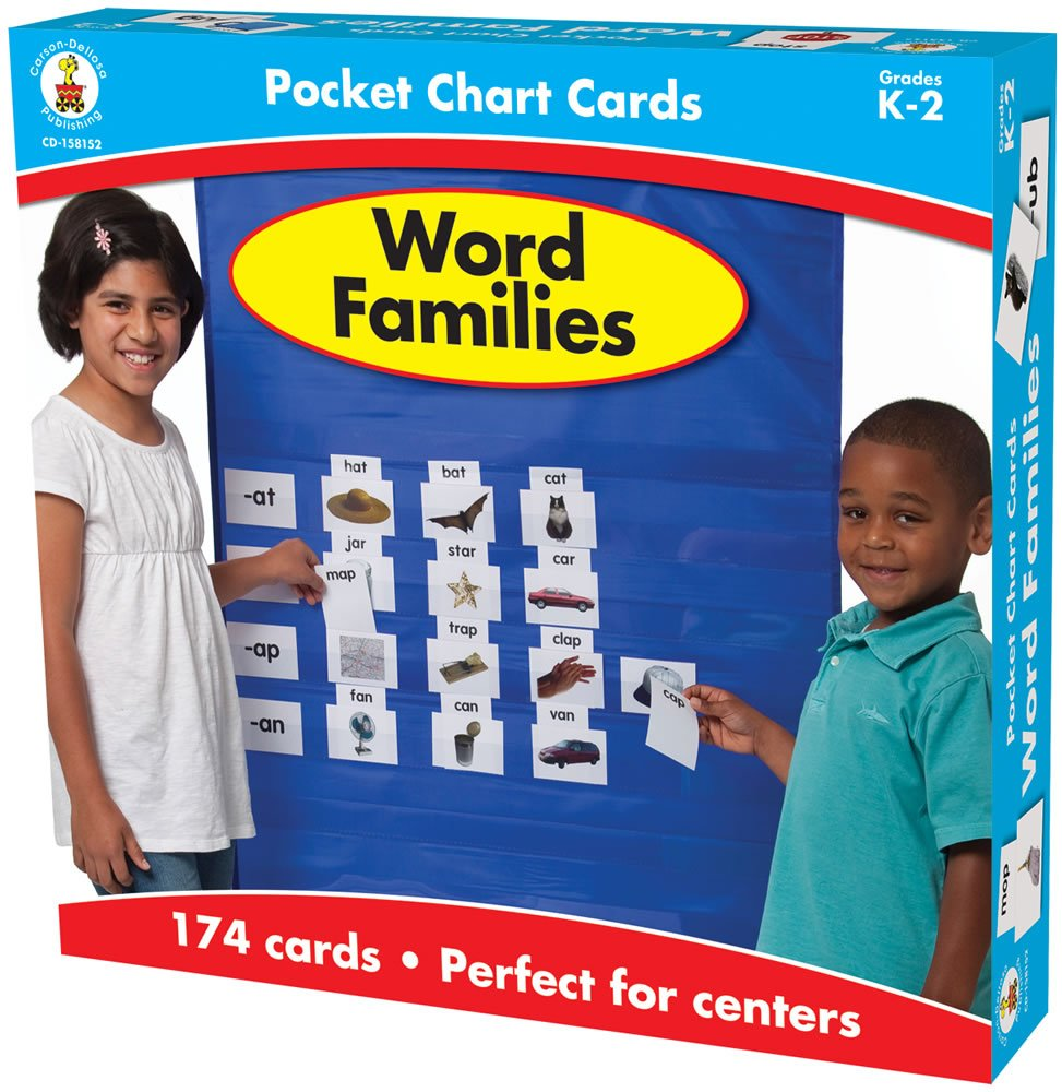 word families card game first grade 1st