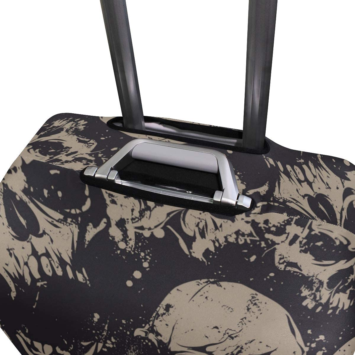 FANTAZIO Abstract Skulls Suitcase Protective Cover Luggage Cover